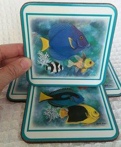 Pimpernel Tropical Fish Coasters